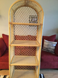 Bamboo and wicker shel unit