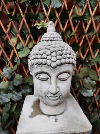 Buddha head garden ornament. NEW