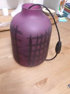 purple Ikea lamp.