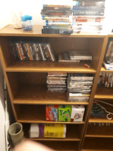 2 wooden book shelves $30 each or 2 for $50