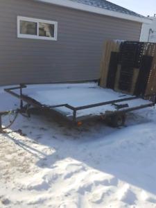 SINGLE  ATV/SNOWMOBILE TRAILOR HAS PAPERS