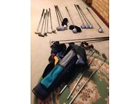 Golf clubs- left handed