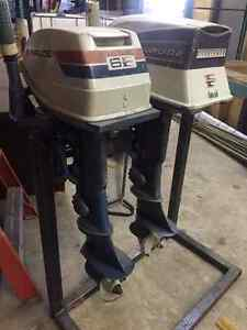 two 6hp evinrude motors for sale