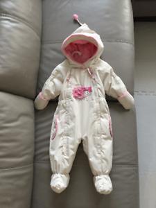 Manteaux d'hiver une pièce bébé fille Habit de neige