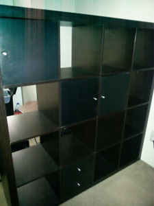 Huge IKEA Bookcase 16 cubes
