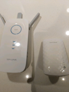 TP Link 5 ghz WiFi Extenders AC750 and AC1750