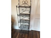 Cast Iron Shelving Unit/Bookcase/DVD stand