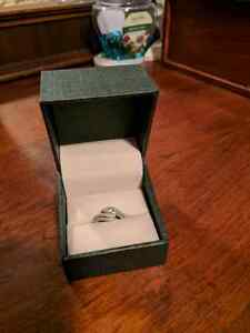 White gold engagement ring  - size 8