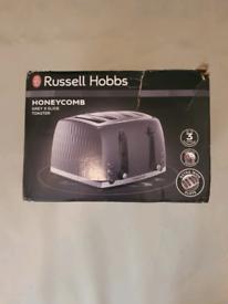 Brand new russell hobbs honeycomb grey toaster