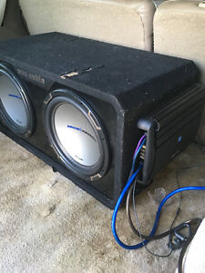 ALPINE MRX-M100 mono amp and MTX subs