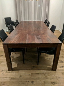 "Solid Wood Dining Table (seats up to 12) - 105""x46""x30"""