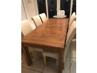 Solid wood Next table double extendable to 2.8m!! Table only