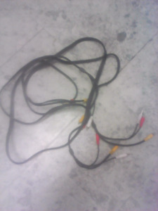 Heavy duty rca cables 8 & 6 ft both for $20 obo