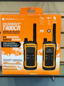MOTOROLA TALKABOUT T400CR Two Radios . Brand New.