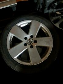 Set of 4 vw golf mk5 alloy wheels rim with tyre