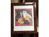 Megan Dickson Carpet Cats Framed