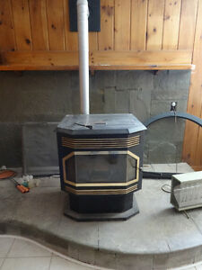 Pellet stove offered in exchange for wood stove