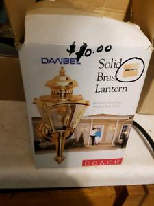 Solid Brass Lantern Exterior Light