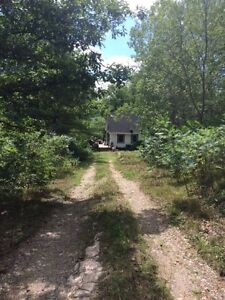 Waterfront cottage/hunting camp 9 acres next to crown land