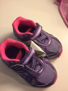 Three Pairs of New Baby girls size 4 and 5 shoes and sneakers