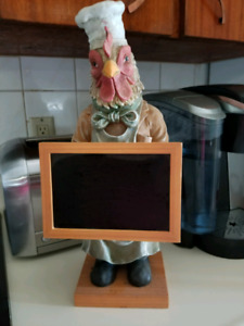 Rooster Menu/Message Chalk Board