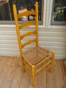 Antique WOOD RAWHIDE Chair