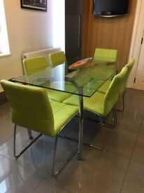 8 x contemporary reception / dining chairs £25 each.