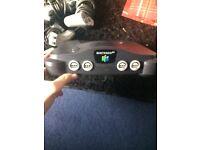 Nintendo 64 with RARE GOLDENEYE GAME