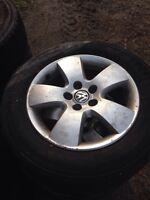 VW Volkswagen aluminum wheels