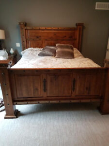 Haceinda walnut king size bed
