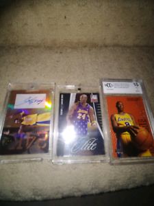 Rare Kobe Bryant signed redemption card and 2 other for sale!