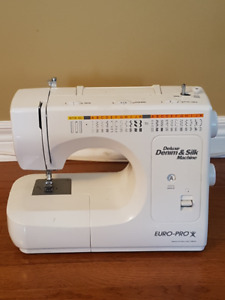 Rarely Used Euro-Pro Deluxe Heavy Duty Sewing Machine + Case