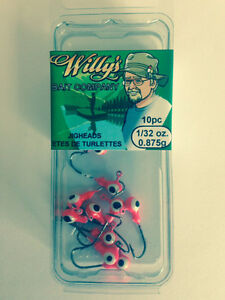 Jigheads 1/32oz - Buy in Quantity - SAVE $$$ - Fishing Tackle