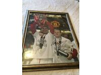 Carling cup 2006 Ronaldo and Rooney Genuine Signed Photograph