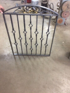 Beautiful wrought iron gate for sale hand built with steel roses