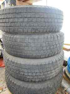 4  MICHELIN USED LT 225/75/R16 RADIAL TIRES