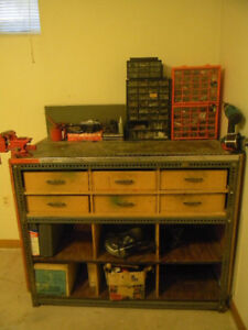 SOLID WORKBENCH w VICE & DRAWERS  $215.00