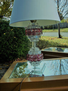 Mid century modern lamp, Lucite and glass lamp London Ontario image 2