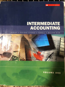Intermediate Accounting, 7th (seventh) CAD edition, Volume One
