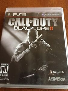 PS3 games x2; Call of Duty Black Ops l & ll