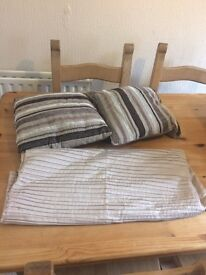 Cushions and bed runner