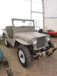 1946 Willys Jeep. Plus many spare parts.