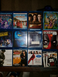 Blue ray movies + tv box sets;3 bucks each or 2 for 5