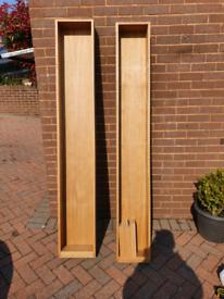 Oak Vaneer shelving units