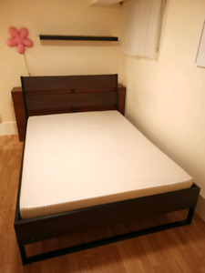 IKEA Double Size bed with Headboard shelf