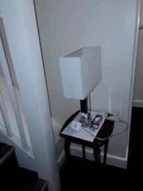 Bedside lamp. with 2 light sheds £10