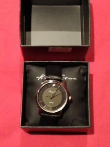 Kenneth Cole Watch (Stainless Steel on Black)