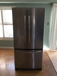 "Kenmore French Doors Fridge Stainless 33"" Works Perfectly 100%"