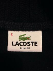 Men's Lacoste half zip jumper