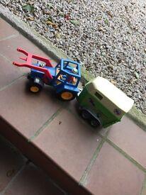 Playmobil Tractor & Horse Van